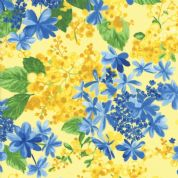 Moda - Summer Breeze 2019 - 7073 - Mixed Floral on Yellow - 33441 14 - Cotton Fabric